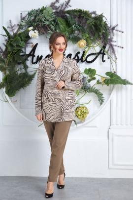 Женский костюм Anastasia 564 кофейный+лате