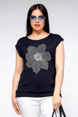 Майка La rouge 3150 темно-синий-(цветок)