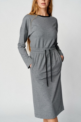 Платье Almirastyle 101 серый