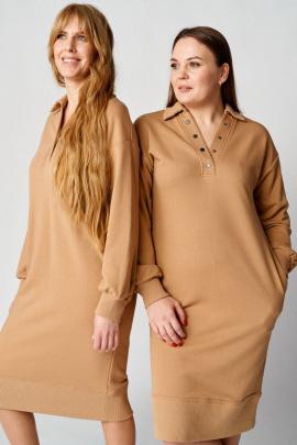 Платье Almirastyle 108 бежевый