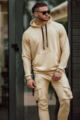 Худи Rawwwr clothing 028-начес бежевый