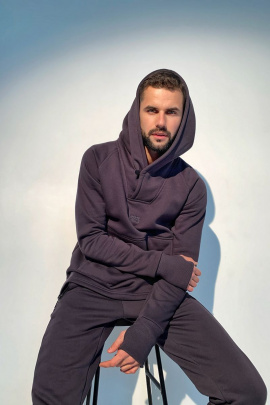Худи Rawwwr clothing 041-начес графит