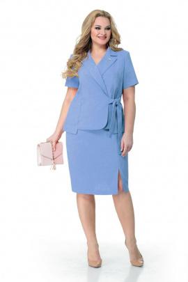 Женский костюм Мишель стиль 941/1 темно-голубой