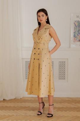 Платье LadisLine 1357 бежевый