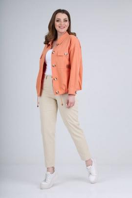 Комплект Verita 2094 кораллово-оранжевый/кремовый
