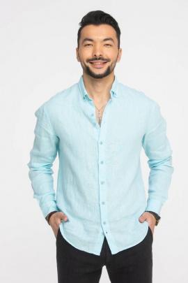 Рубашка Cool Flax КФР001 бирюза