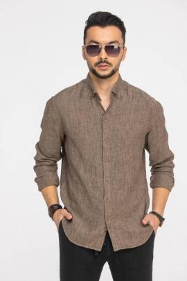 Рубашка Cool Flax КФР001 коричневый