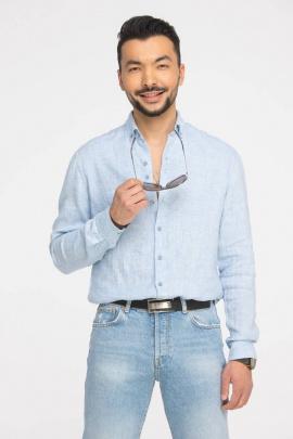Рубашка Cool Flax КФР001 голубой