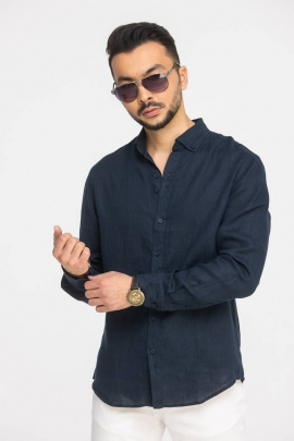 Рубашка Cool Flax КФР001 синий