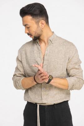 Рубашка Cool Flax КФР002 светло-коричневый