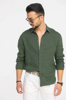 Рубашка Cool Flax КФР002 зеленый