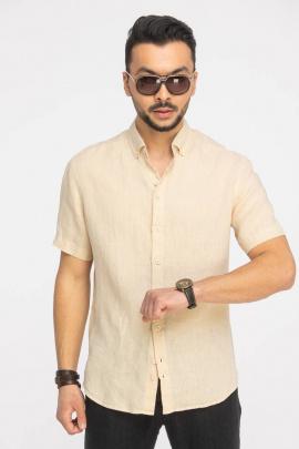 Рубашка Cool Flax КФР001кор.рук  шампань