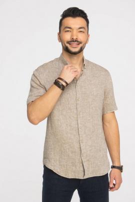 Рубашка Cool Flax КФР001 кор.рук-светло-коричневый