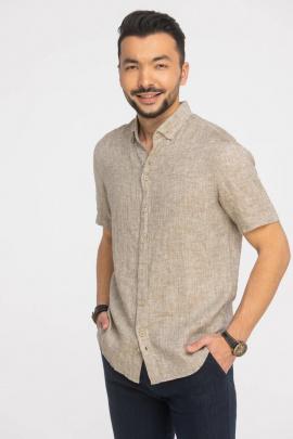 Рубашка Cool Flax КФР002кор.рук  светло-коричневый