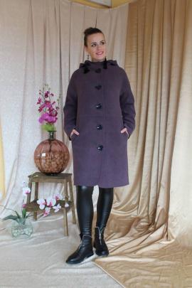 Пальто Arisha 8029 лиловый