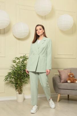 Женский костюм Anastasiya Mak 603 оливковый