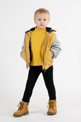 Бомбер Weaver 7502 желтый/серый_меланж