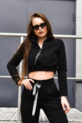 Свитшот Rawwwr clothing НЗ018-начес черный