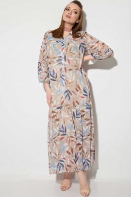 Платье SOVA 11097 бежевый