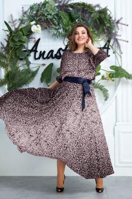 Платье, Пояс Anastasia 063.6 т.син-розовый