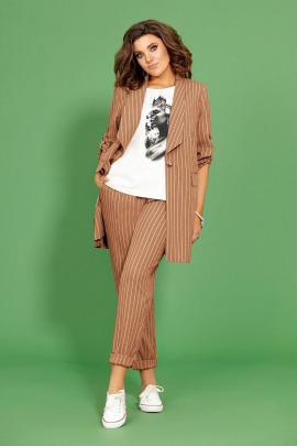 Женский костюм Mubliz 425 шоколад_полоска