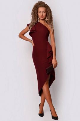 Платье PATRICIA by La Cafe F14993 винный