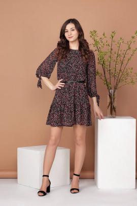Платье Соджи 484 черный_и_красный