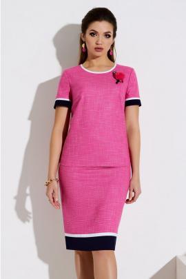 Блуза, Юбка Lissana 4041 розовый+белый