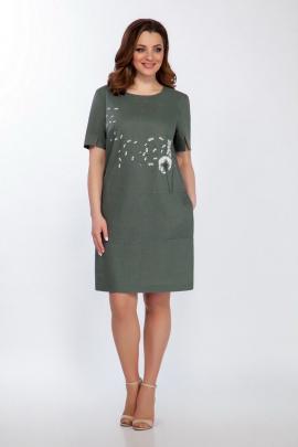 Платье LaKona 1372-1 хаки