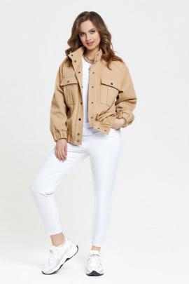 Брюки, Куртка TEZA 2381 кэмел-белый