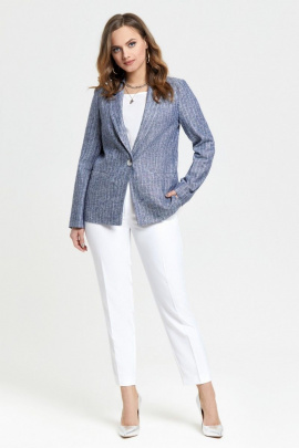 Женский костюм TEZA 2628 синий-белый
