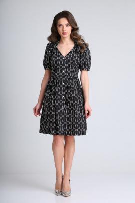 Платье SandyNa 13937 черный_дизайн