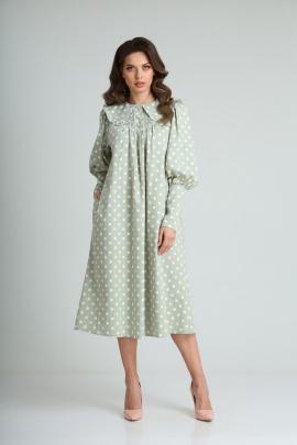 Платье SandyNa 13924 зеленый_чай