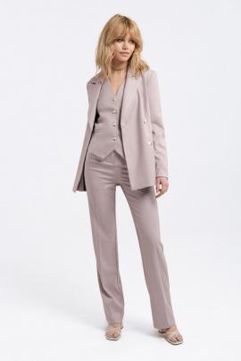 Женский костюм PiRS 2811 бежево-лиловый