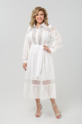 Платье Pretty 1972 белый+дырочки