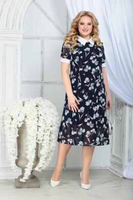 Платье Ninele 2287 синий_ирисы