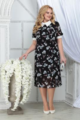 Платье Ninele 2287 черный_ирисы