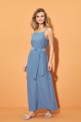 Платье DiLiaFashion 0500 голубой