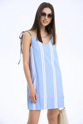 Сарафан LaVeLa L1914 голубой/полоска