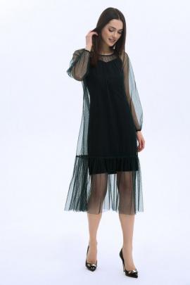 Платье LaVeLa L10005 изумрудный/черный