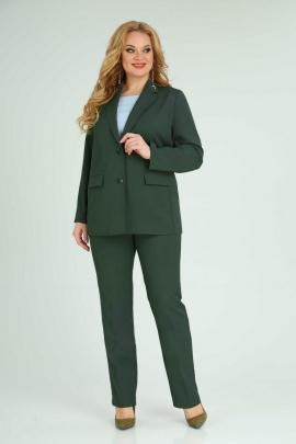 Женский костюм Орхидея 1067 темно-зеленый