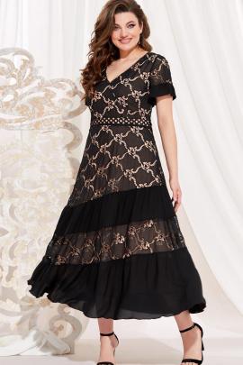 Платье Vittoria Queen 13773 черный-телесный