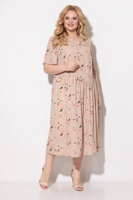 Платье Koketka i K 838-5 бежевый+оранжевый