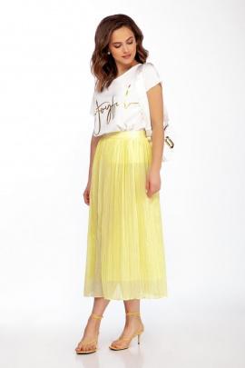Блуза, Юбка Dilana VIP 1727/1 желтый