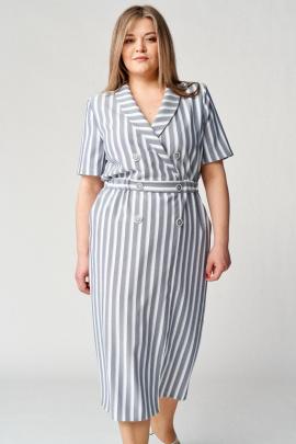 Платье Almirastyle 167 полоска_серая