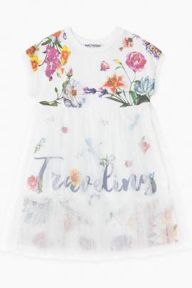Платье Bell Bimbo 210148 набивка/молоко