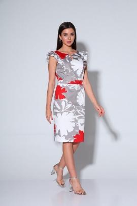 Платье Ксения Стиль 1895 серый
