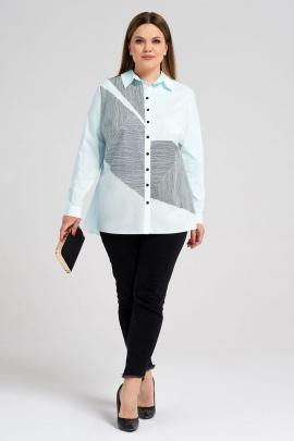Рубашка Панда 34843z светло-голубой