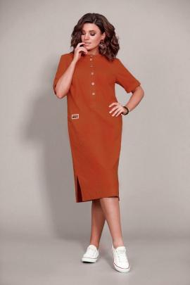 Платье Mubliz 435 кирпичный