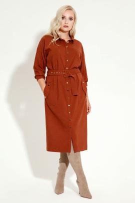 Платье Панда 12880z терракотовый